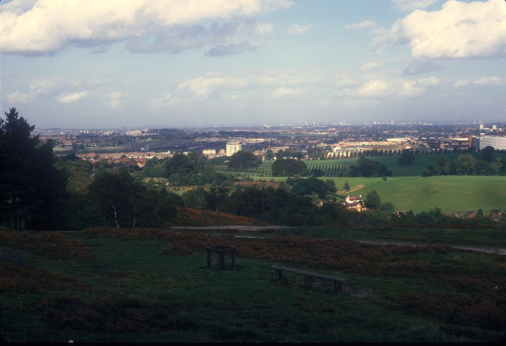 Longbridge from Lickey Hills (view from Bilberry Hill towards Austin Car Store, right) 7th October 1967