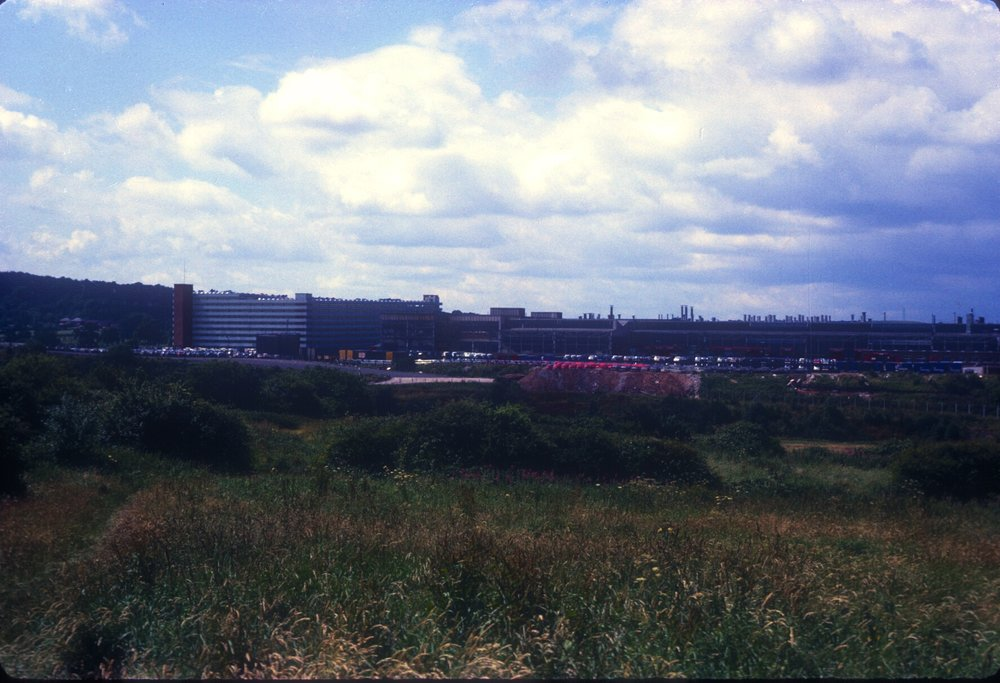 Longbridge, Austin Works from Groveley Lane (Car store to the left) 15th July 1967