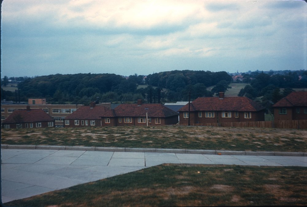 Maypole, Warstock Road (view from new flats towards Kings Heath, Billesley Golf Course) 15th September 1959