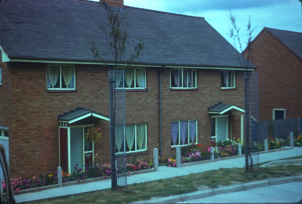 Maypole, Warstock Road New Houses adjoining Flats (Alcester Lanes End) 15th September 1959