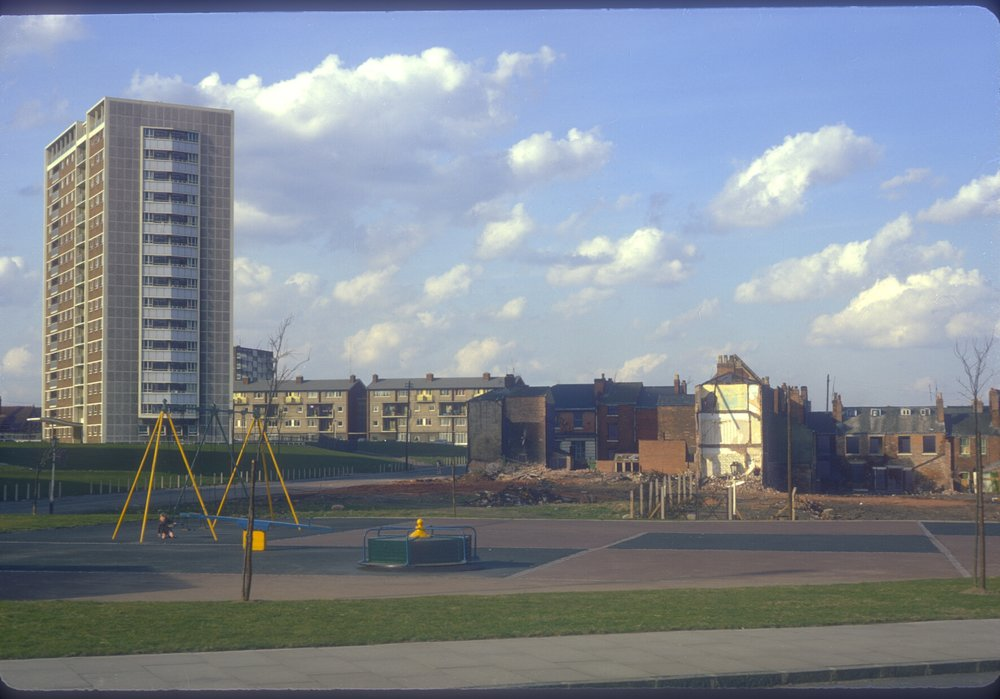 Nechells Green, new and old, new is Cromwell St, old is Taylor StRocky Lane - view point Oliver St Cranbury St. 22nd March 1968