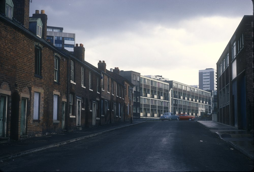 Nechells Green, Proctor St, view across Great Lister St. 13th October 1968