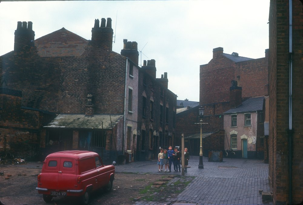 Newtown, Court in Hampton Street (Near St Georges Street), Front House Demolished. 14th May 1963