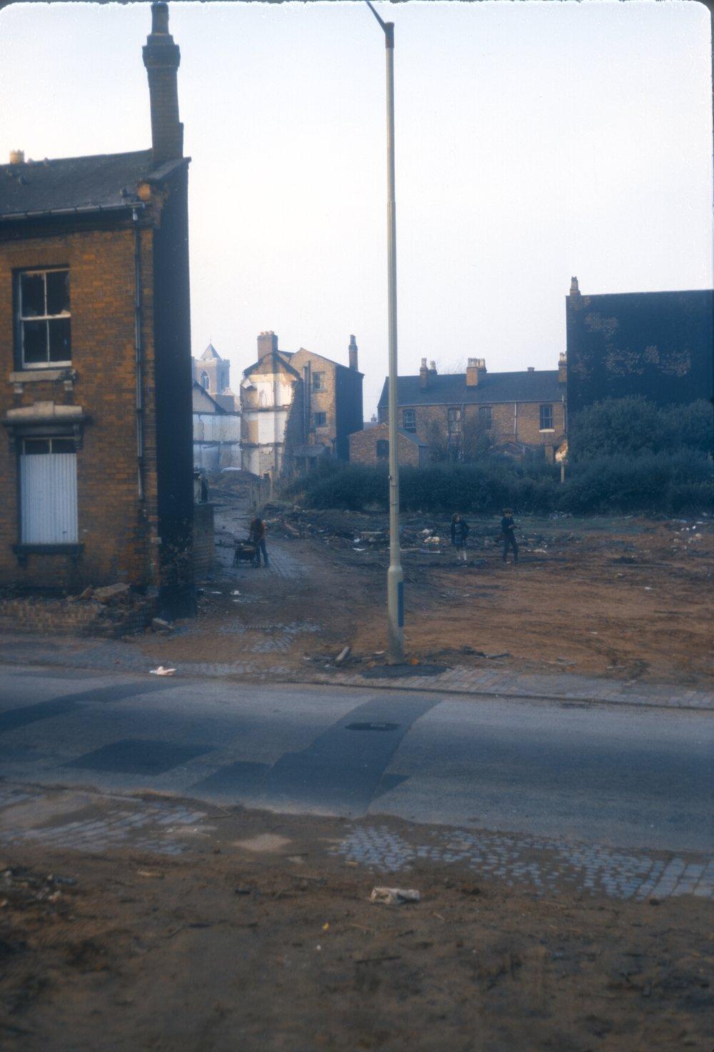 Newtown, Furnace Lane. North of Gerrard Street, South of Gower Street. 9th November 1968