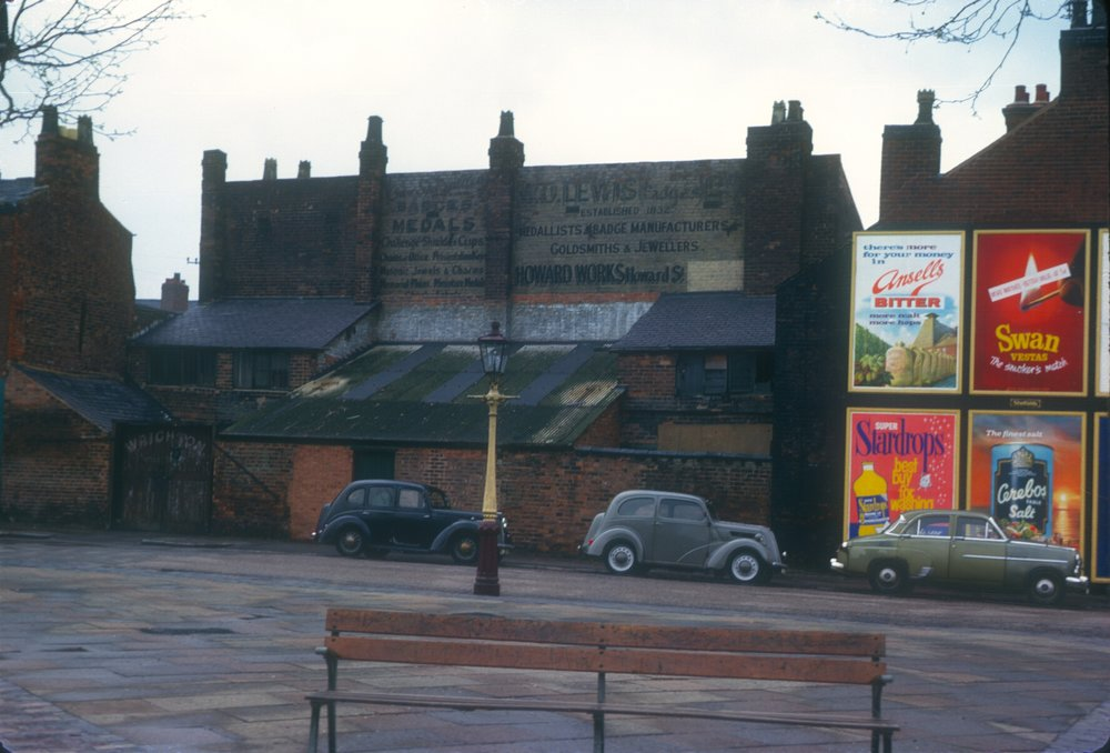 Newtown, Howard Street (near St Georges) Old Jewellery Works established 1832 (W. O. Lewis Badges) 14th May 1963