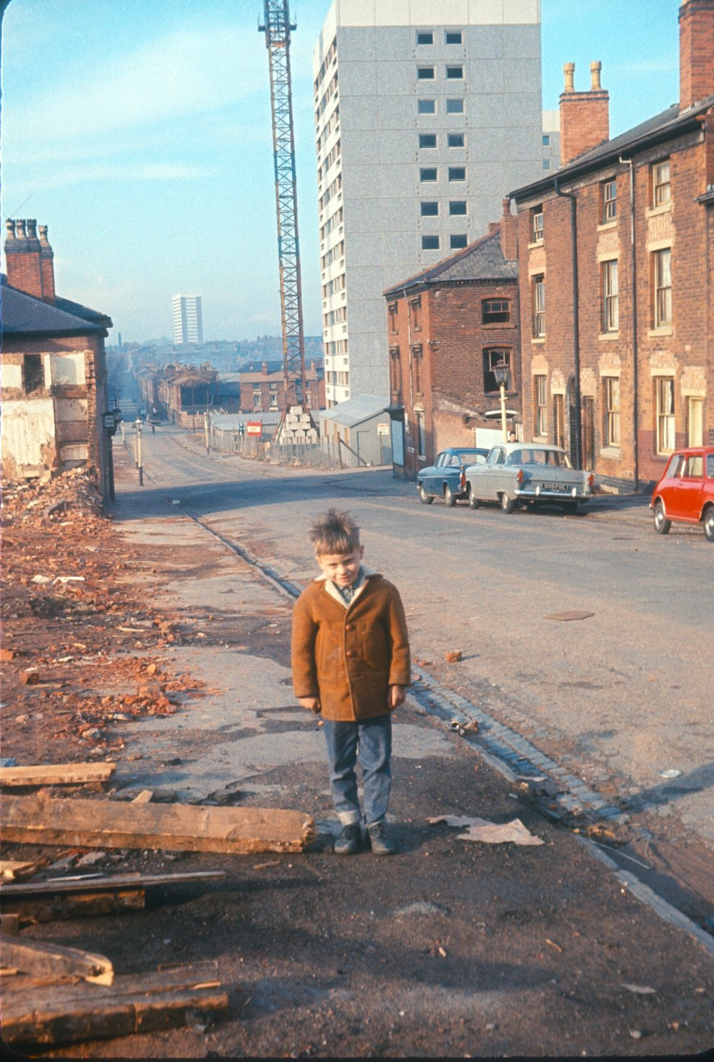 Newtown, Old Houses, New Flats in Great Russell Street. 28th March 1967