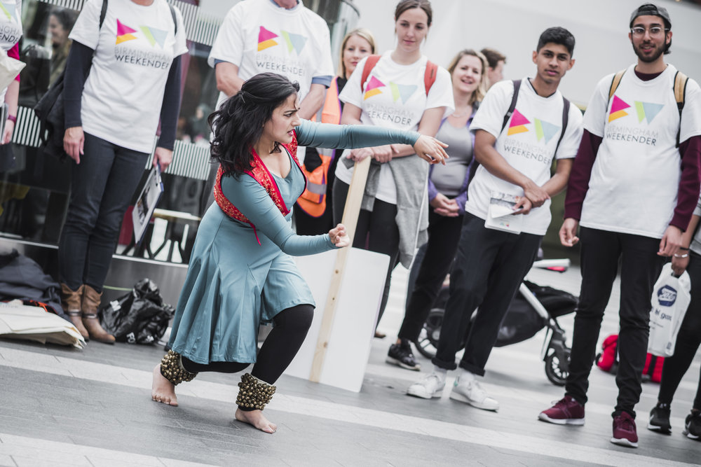 Birmingham Weekender - A preview of Sonia Sabri's new choreography especially for Square Dance on 23 Sept and the Bullring stage 24 Sept. Pic by Verity Milligan..jpg