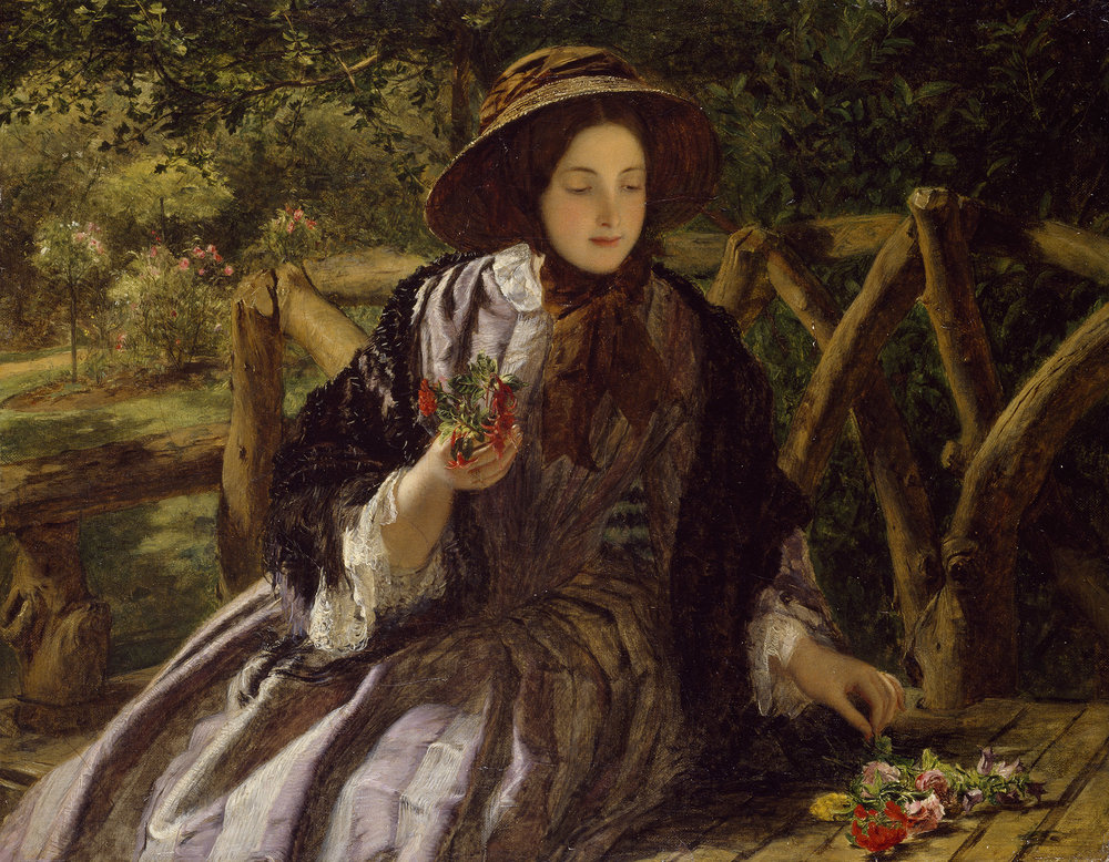 Garden Flowers ( Making A Posy ), 1855-56, William Powell Frith.JPG