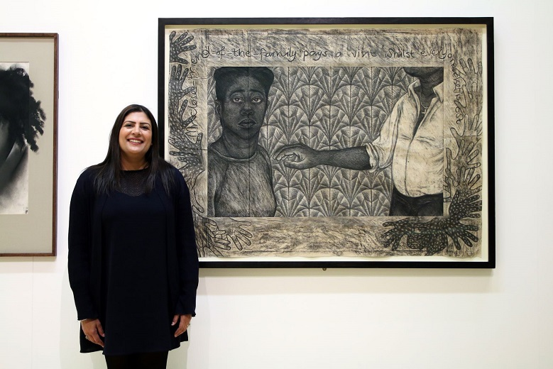 MP Preet Kaur Gill with her chosen artwork.jpg