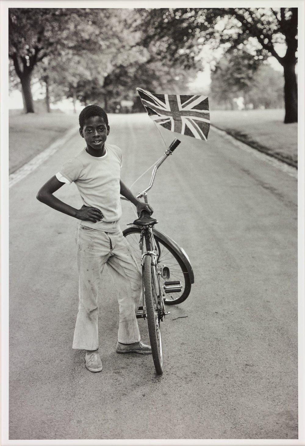 Boy with the flag - Copyright Vanley Burke.jpg