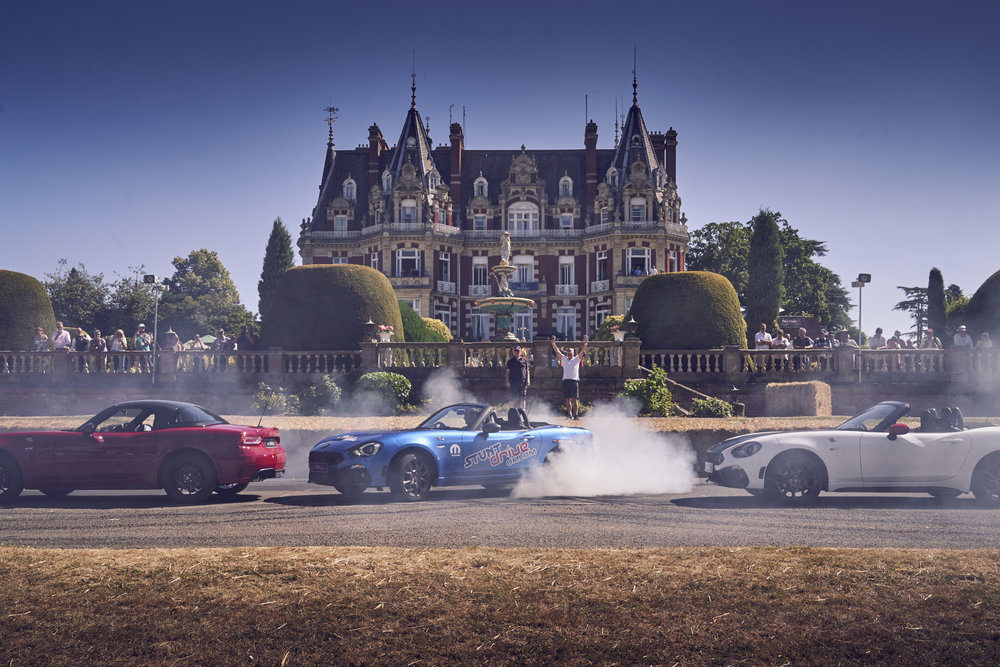 World renowned stunt driver sets a new Guinness World Record at Chateau Impney Hill Climb 2018.jpg