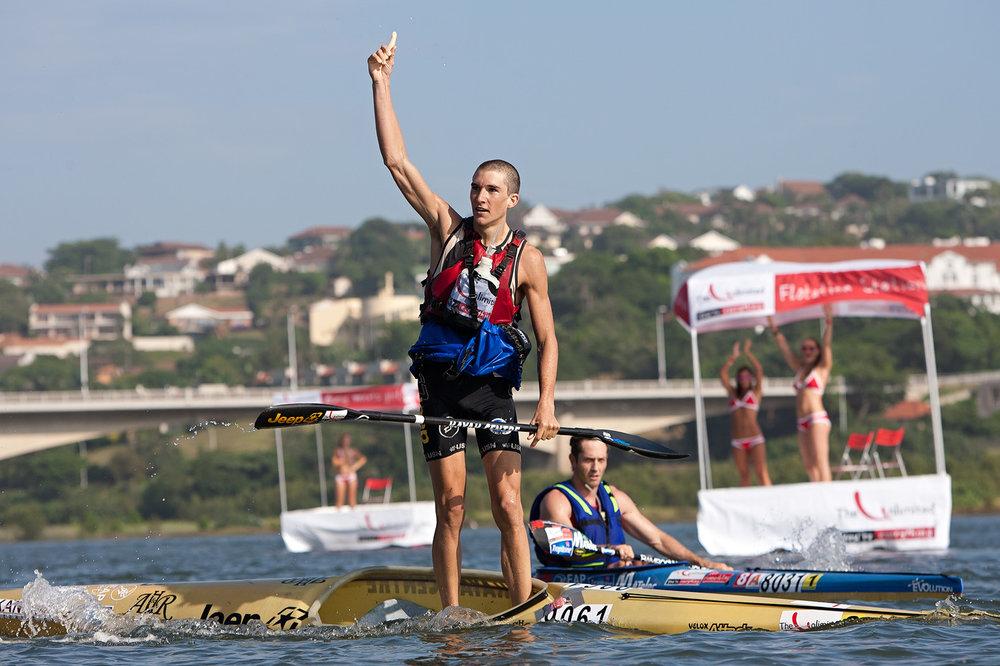 Andrew Birkett -  Seven   time Dusi Canoe Marathon winner
