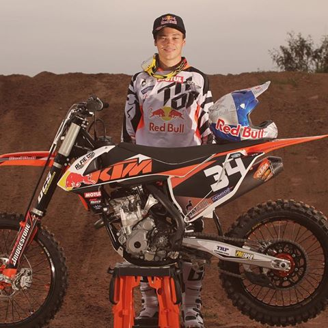 Brad Cox -  KTM sponsored motor cross racer