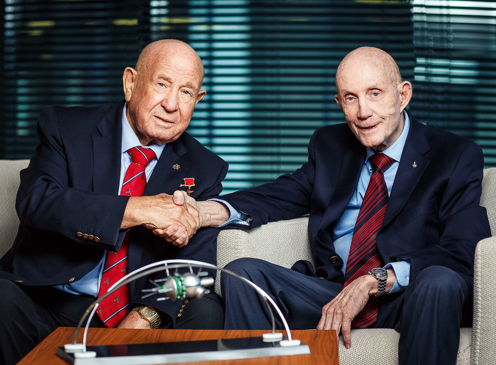 Встреча космонавтов Алексея Леонова и Томаса Стаффорда в Москве, фотограф Артем Саватеев