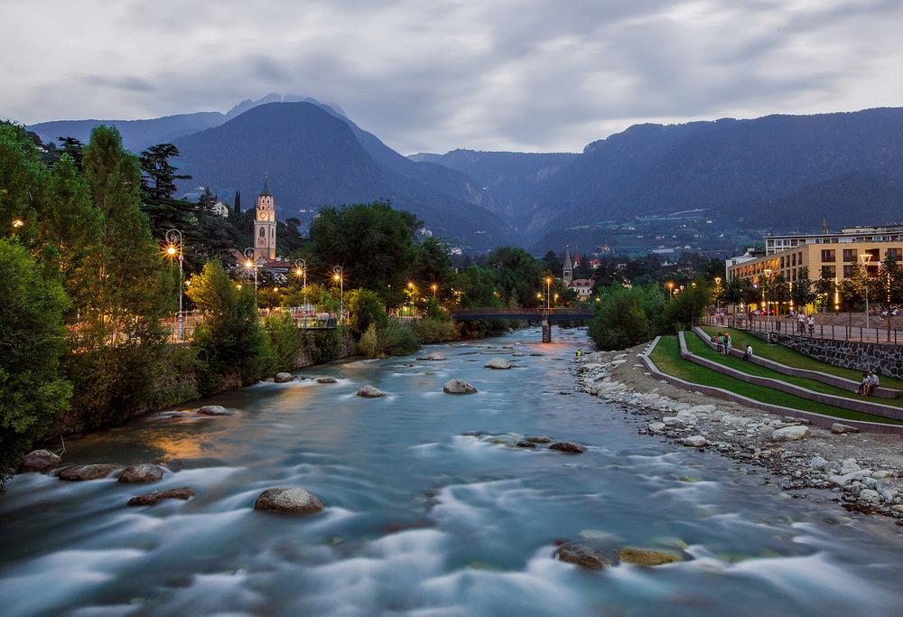 Passer river in Meran Italy.jpg