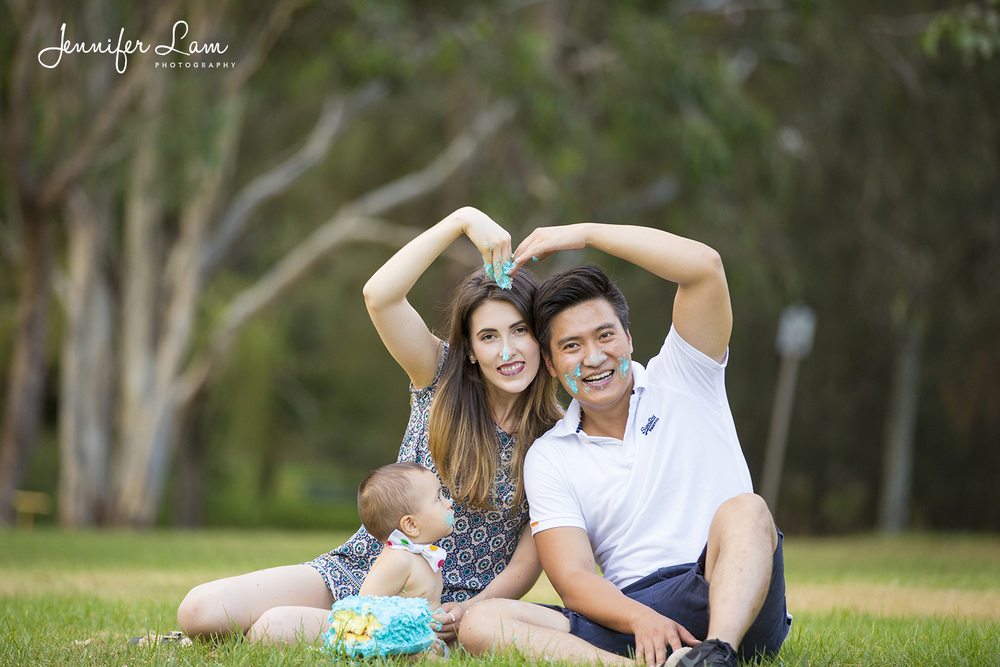 Cameron's 1st Birthday - Family Portrait Photography - Jennifer Lam Photography - Sydney - Australia