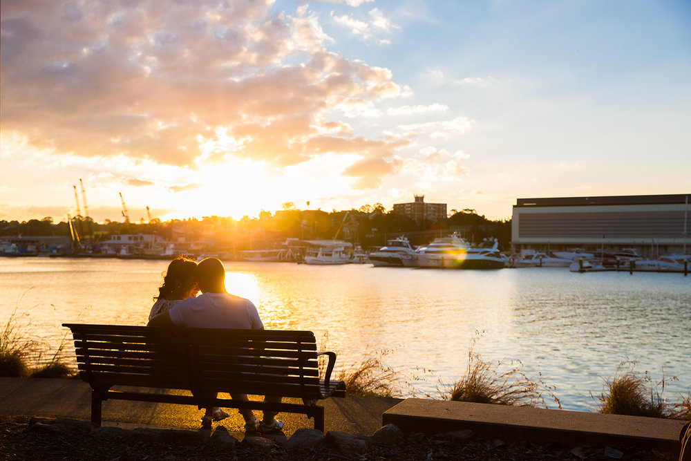 Blackwattle Bay - Sunset Engagement Session - Sydney Wedding Photographer - Jennifer Lam Photography