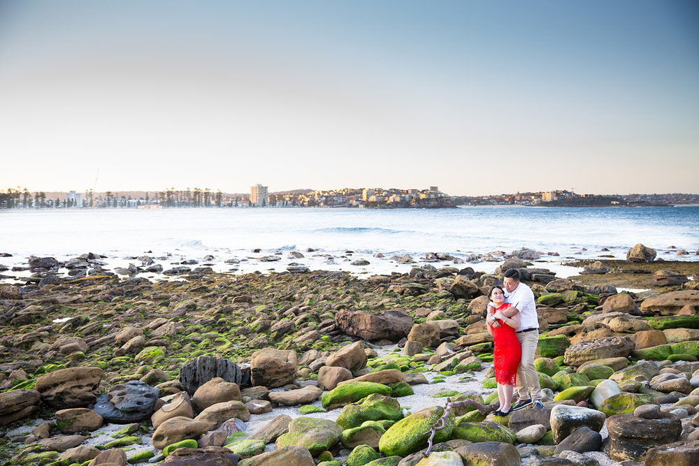 Shelly Beach, Manly - Sydney Wedding Photographer - Jennifer Lam Photography
