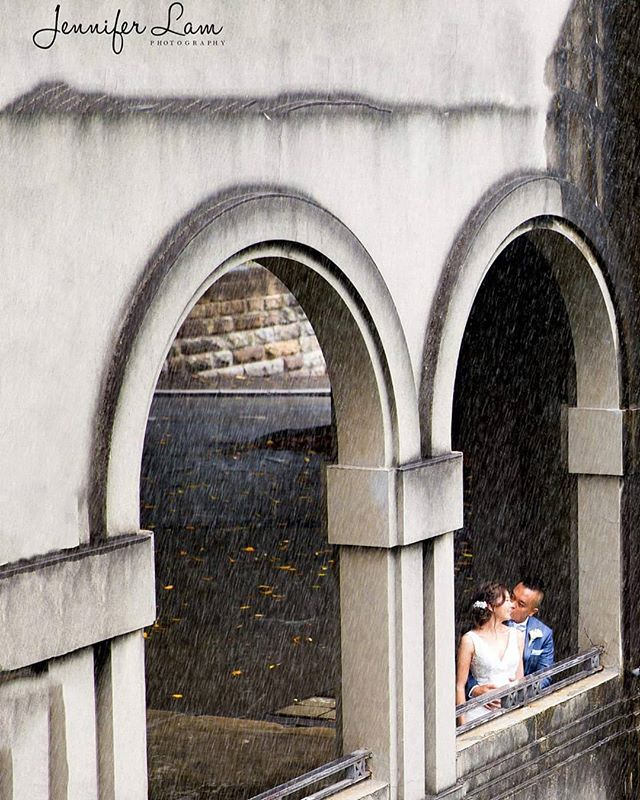 Romance under the rain ❤ ----------------------------------------------------------------- Photographer: @jenniferlamphotography Bridal gown: @olegcassiniau Bridesmaid dresses: @theiconicau Flowers: @thefabledflorette HMUA: @prettylittle.creations Venue:@pieroneweddings Celebrant: Shelley Bennett -----------------------------------------------------------------