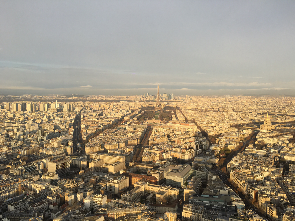 View from Tour Montparnasse, where the SNCF Tourist Experience Challenge was hosted