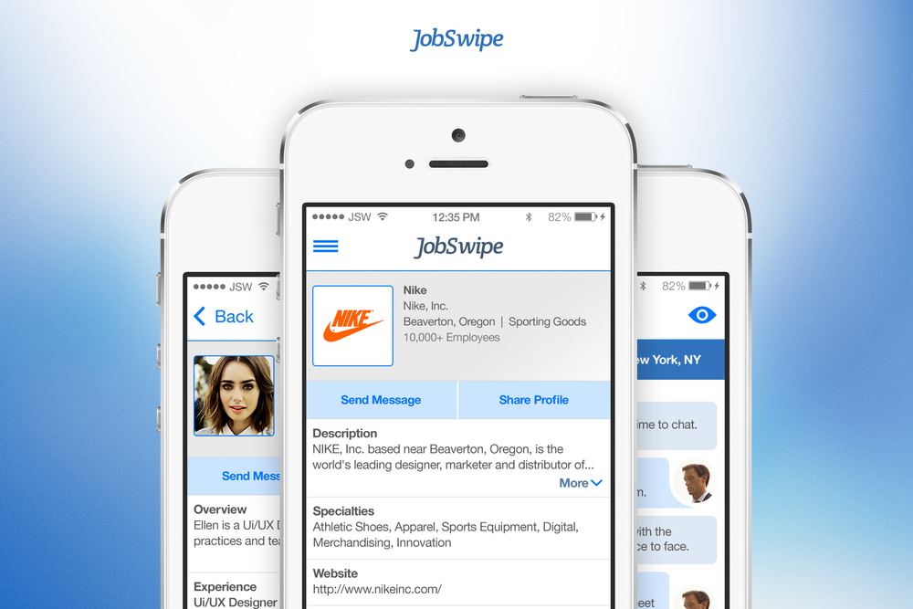 "JobSwipe - ""Tinder for Jobs"""