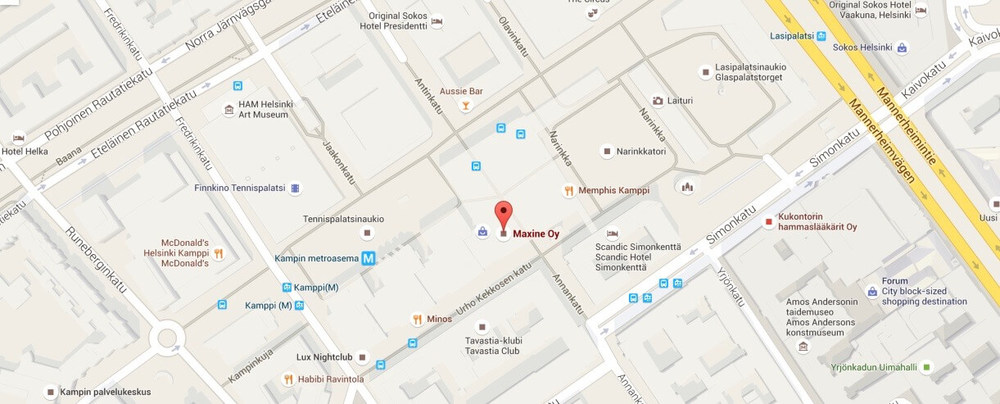 Maxine map