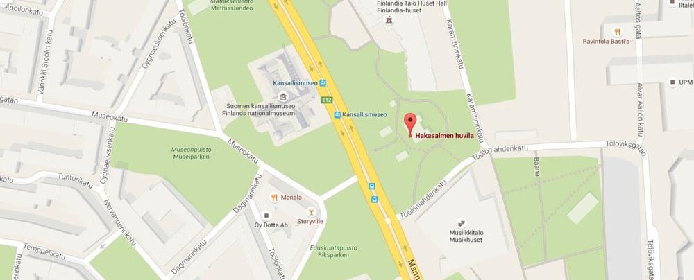 Hakasalmen Huvila map