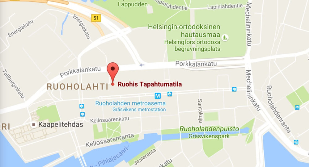 Tapahtumatila Ruohis map