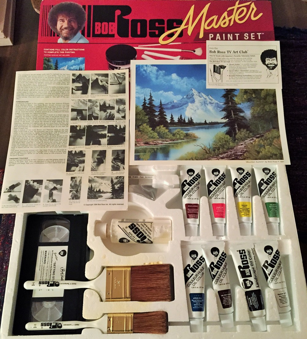 The set used by Jarred for his painting. At least 15 years old.