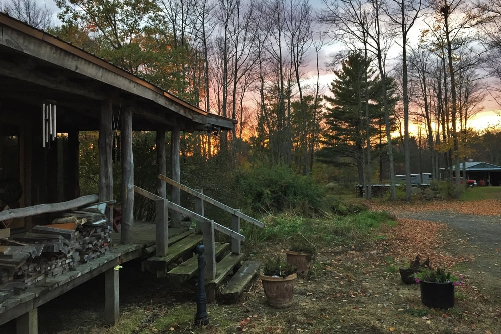 Our house at sunset this Fall. It's hard work, but is it any wonder we love it here?