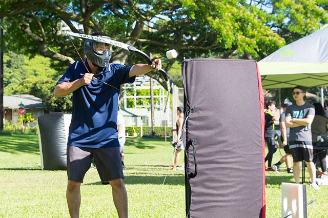 Wishing for sunny skies to add a little more heat to the game ☀️ #archery #archerytag #archeryhawaii #instagood #photooftheday #picoftheday #friends #luckywelivehi #yelphawaii #havealohawilltravel