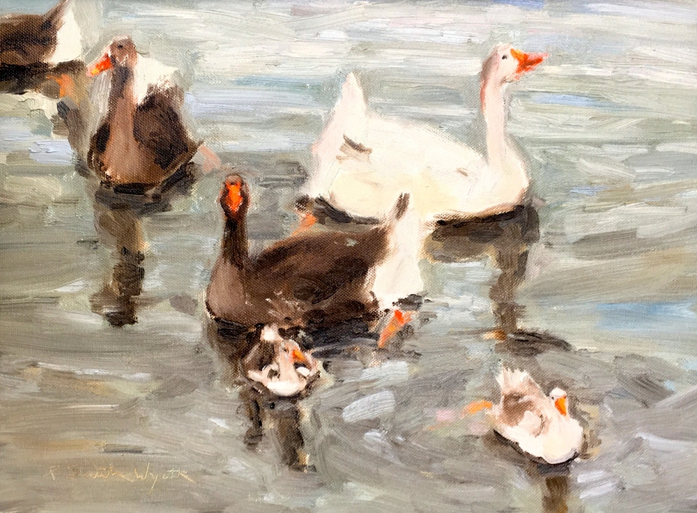 Family Gathering     12 x 16 inches     oil on canvas