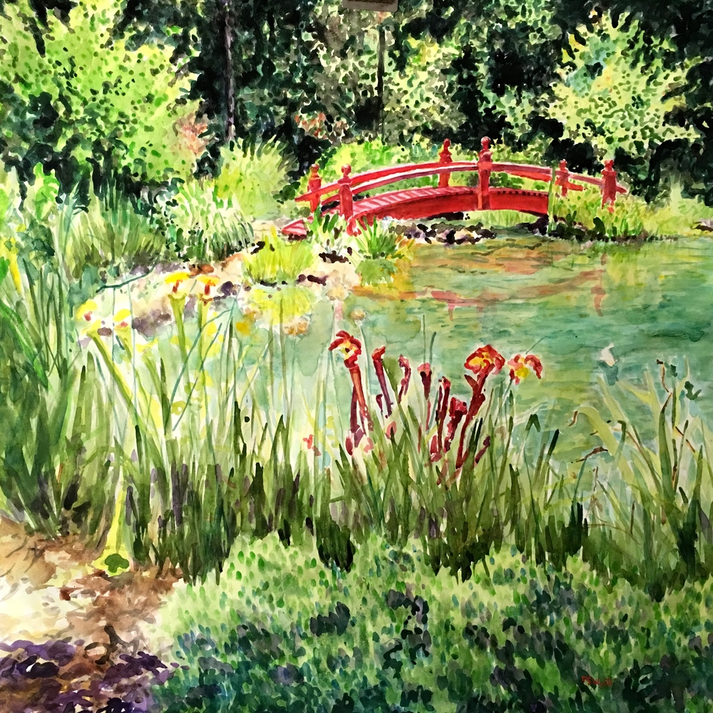SOLD - Asian Garden Bridge