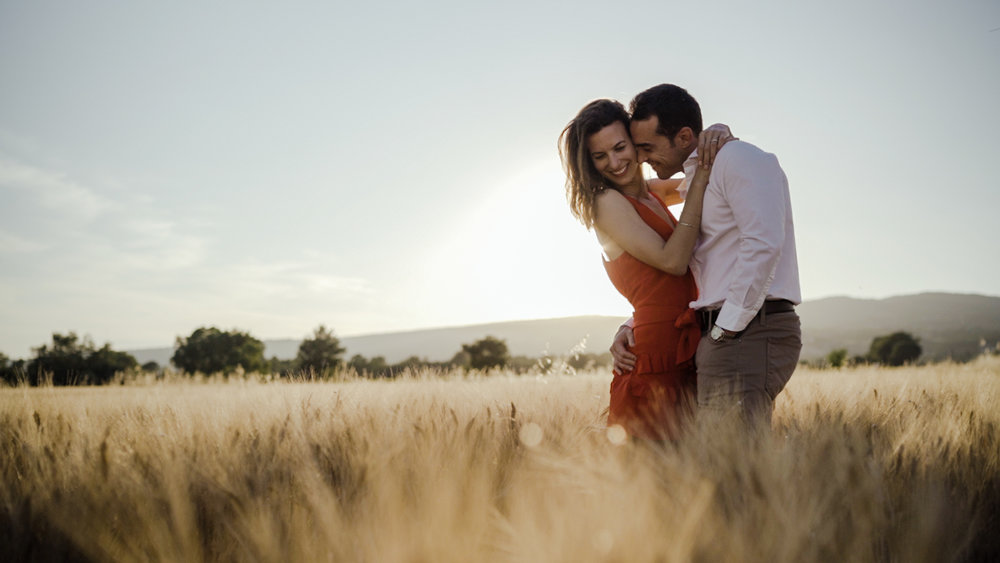 lavender and whea field wedding film in provence