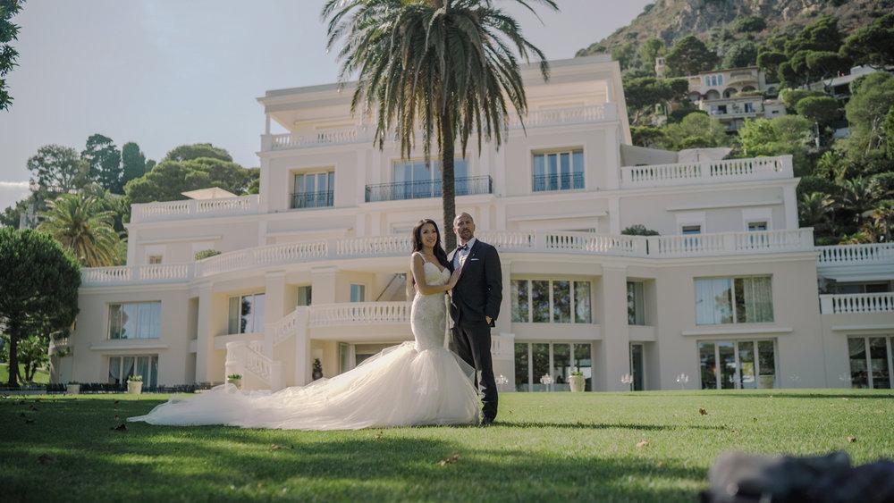 luxury wedding in monaco cap d'ail, villa cap estel