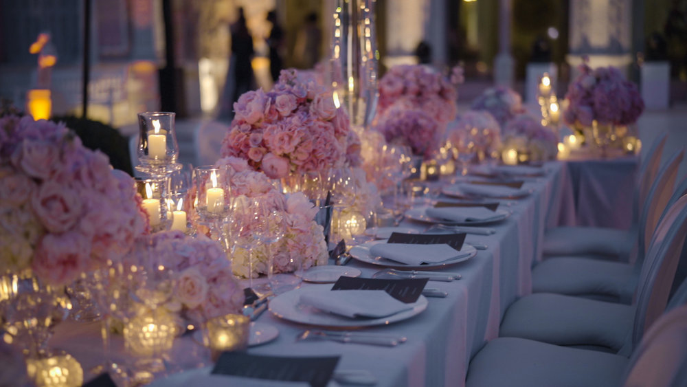 villa ephrussi rotschild wedding table setting