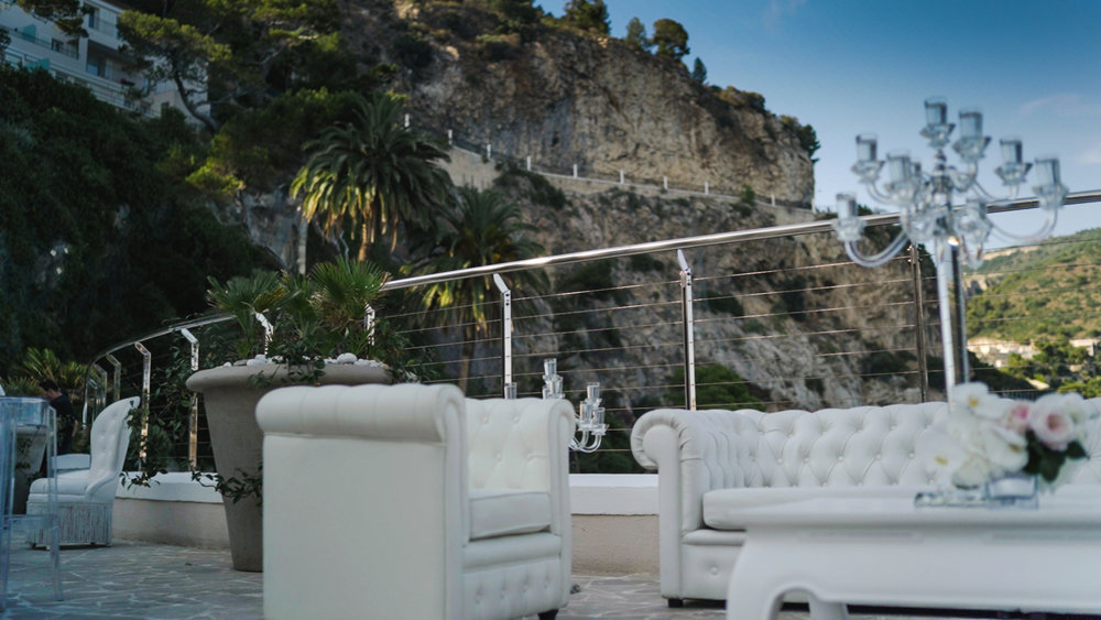 sumptuous decor in cap estel , luxury wedding