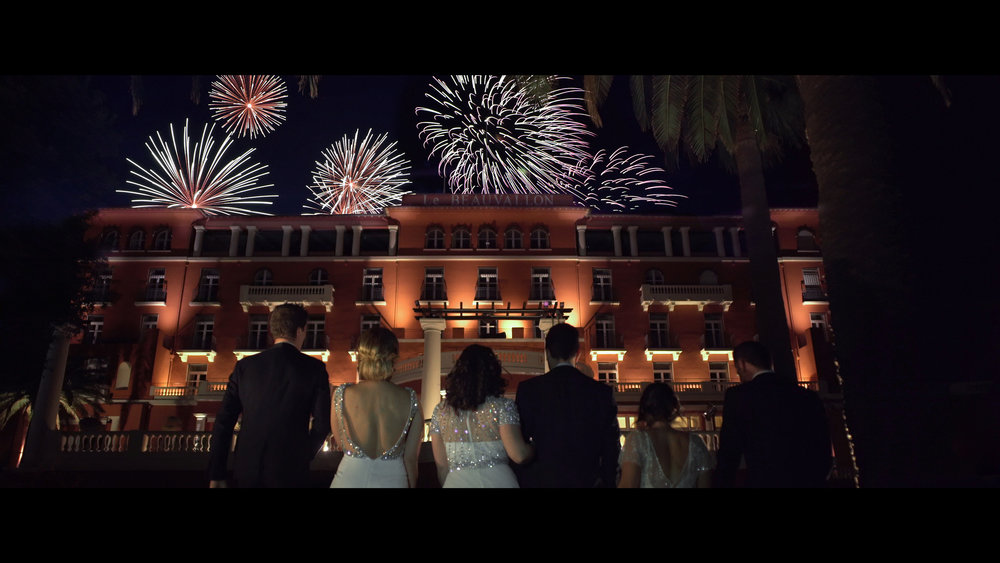 wedding luxury , hotel beauvallon fireworks