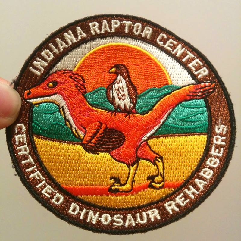 The completed patch! It's been a hit with Indiana Raptor Center's supporters.