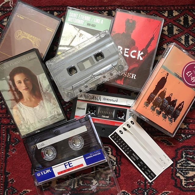Cassettes! Was lots of fun to make up a mix tape :D #nostalgic #fastforward #rewind #record