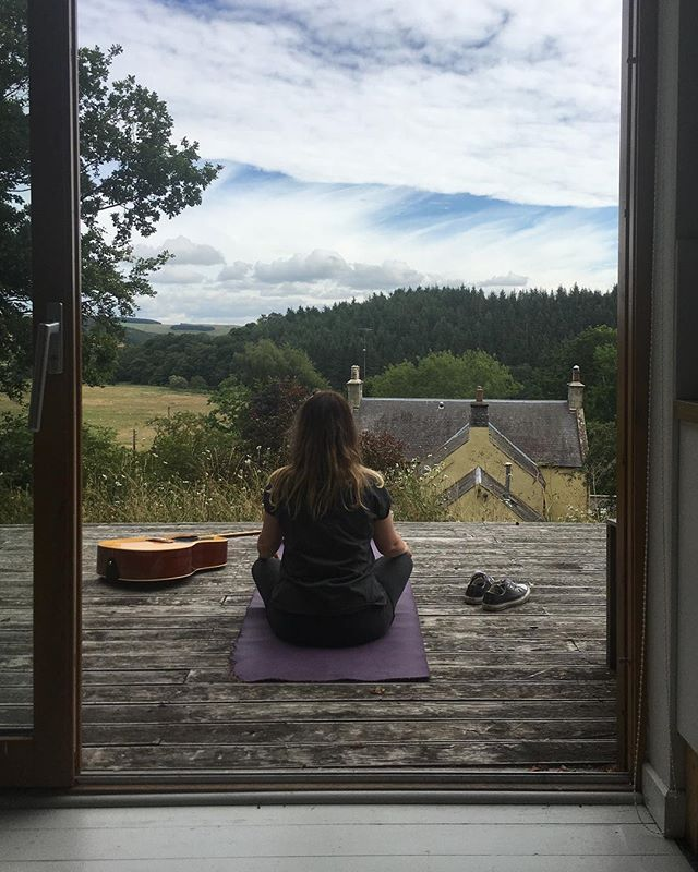 Taking a moment to appreciate the quietness. Dx #yoga #scotland #space