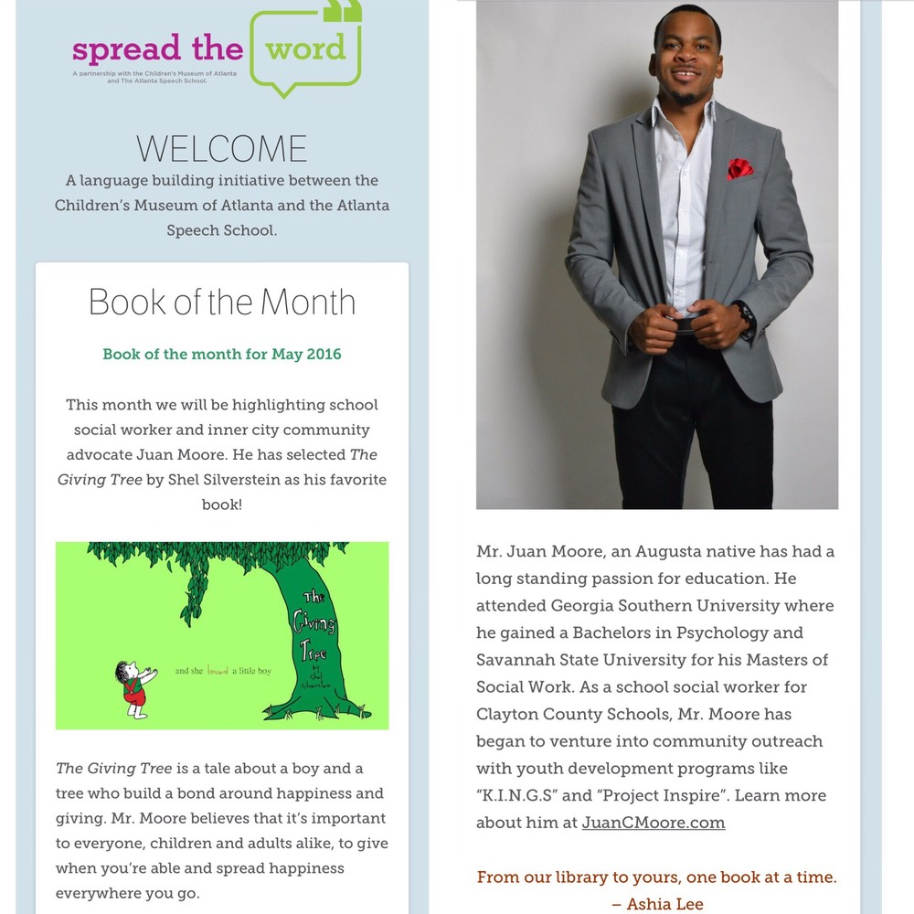 Visit www.spreadthewordatl.org to learn more about activities and programs for kids.