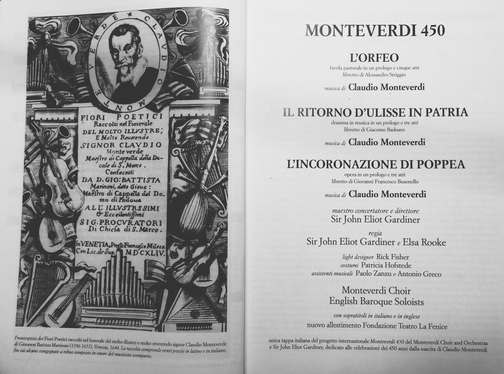 Monteverdi Choir and Orchestras - Sir John Eliot Gardiner - Costumi ; Patricia Hofstede