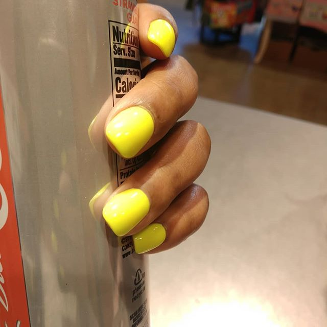 That thing of when you get your nails done and are still obsessed days later.  #nail #beauty #neon #obsessed