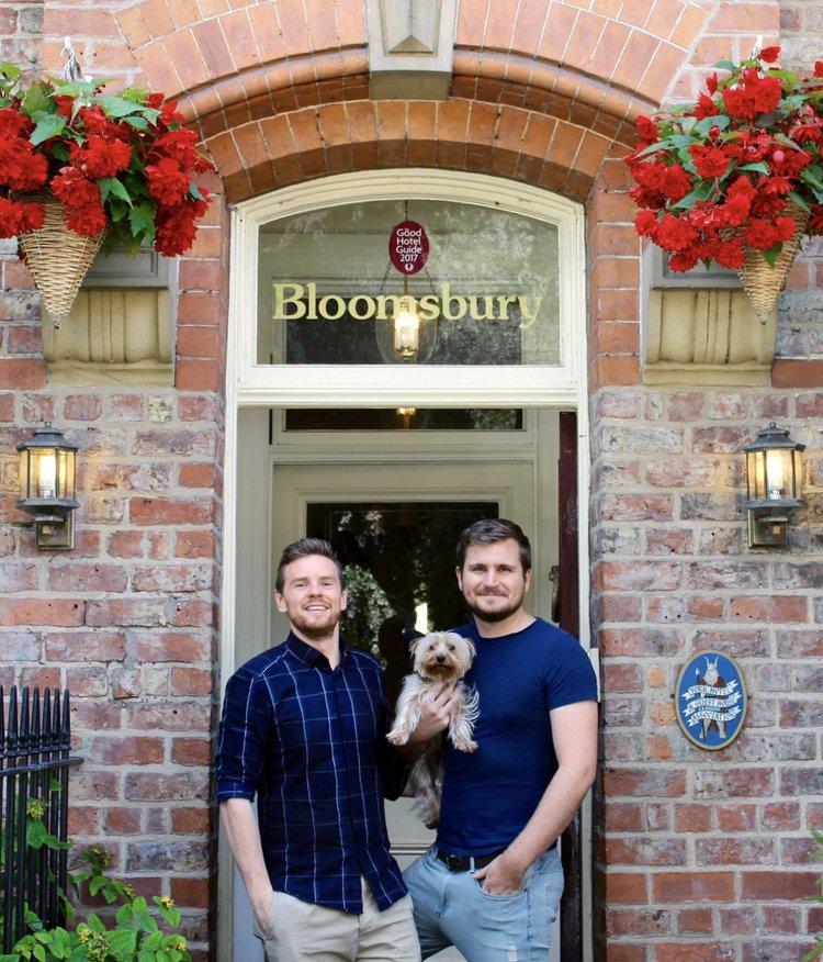 Paul, Matt & Harvey dog