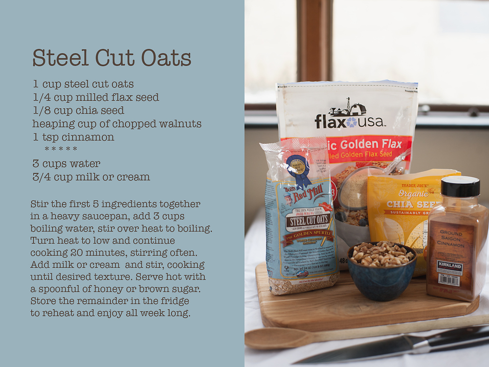 Steel Cut Oats recipe for The Kitchen table by Dena Robles, Grand Rapids Michigan Photographer