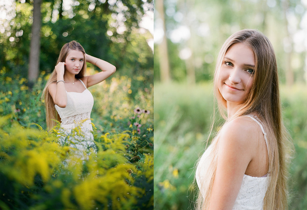 Reeds Lake film portraits for high school seniors photography