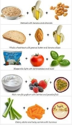 Some examples of 6 small but balanced snacks