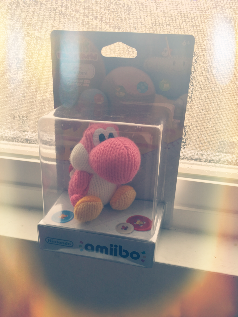 One day, like my PS4, I will have a Wii U again! I've been swooning over the Pink Yarn Yoshi amiibo for some time so I was so excited to see I have the lil guy to display now!