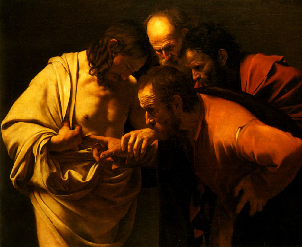 The Incredulity of Thomas  ,  Caravaggio